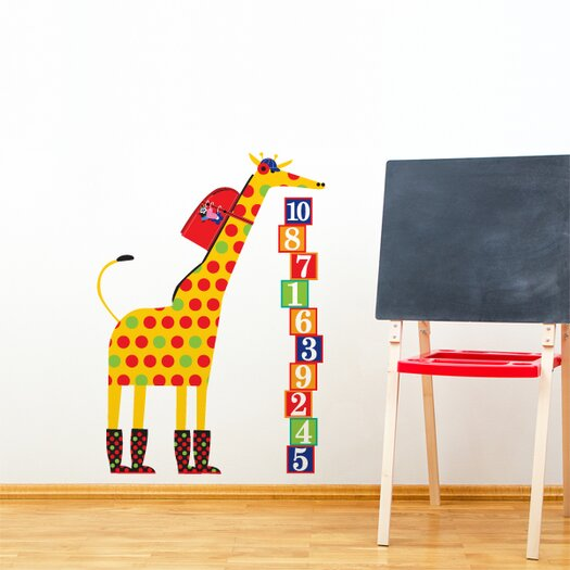 ADZif Piccolo Schooltime Giraffe Wall Decal