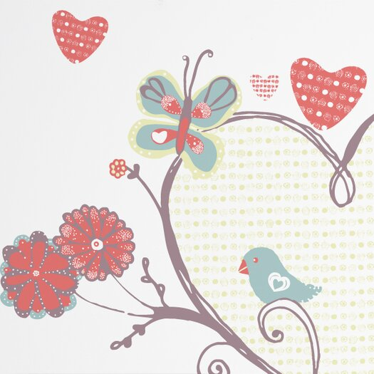 ADZif Piccolo a Perch with Heart Wall Decal