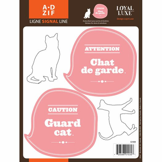 Signal Guard Cat Window Sticker