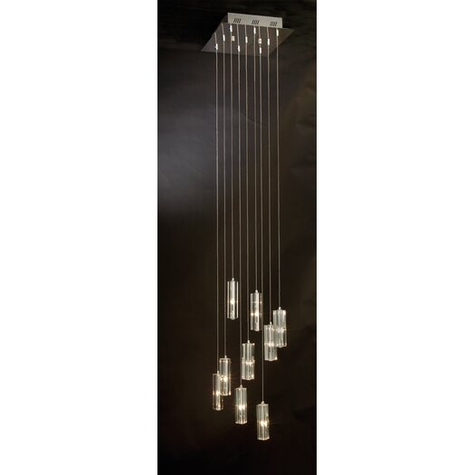 Trend Lighting Corp. Icarus 9 Light Chandelier