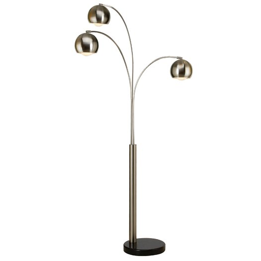 Trend Lighting Corp. Triad 3 Light Arc Floor Lamp