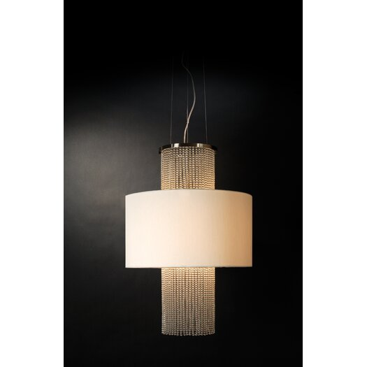 Trend Lighting Corp. Waltz 3 Light Round Drum Pendant
