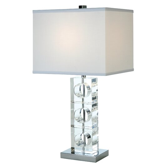 "Trend Lighting Corp. Rhapsody 25"" H Table Lamp with Rectangular Shade"