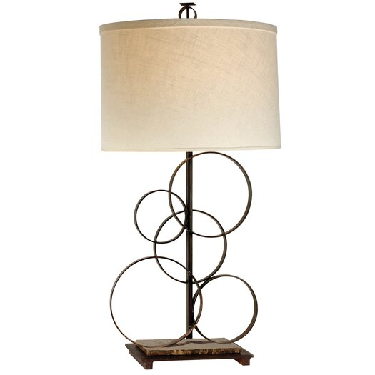 "Trend Lighting Corp. Acropolis 33"" H Table Lamp with Drum Shade"