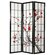 "Oriental Furniture 72"" x 42"" Cherry Blossom Decorative 3 Panel Room Divider"
