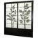 Oriental Furniture Bamboo Tree Shoji Sliding Door Kit in Black