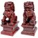 Oriental Furniture 2 Piece Fu Dog Figurine Set