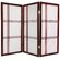 Oriental Furniture 3 Feet Tall Double Cross Shoji Screen in Rosewood
