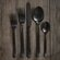 DwellStudio 5 Piece Onyx Black Cutlery Set
