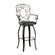 Powell Furniture Scroll Back Barstool in Distressed Bronze