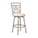 Powell Furniture Barstool in Distressed Antique Gold