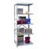 "Hallowell Hi-Tech Extra Heavy-Duty Open Type 87"" H 4 Shelf Shelving Unit Add-on"