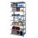 Hallowell Hi-Tech Shelving Heavy-Duty Open Type Add-on Unit with 8 Shelves