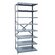 Hallowell Hi-Tech Shelving Medium-Duty Open Type Add-on Unit with 8 Shelves