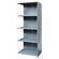 Hallowell Hi-Tech Shelving Medium-Duty Closed Type Starter and Optional Add-on Unit with 5 Shelves