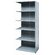 Hallowell Hi-Tech Shelving Medium-Duty Closed Type Add-on Unit with 6 Shelves