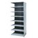 Hallowell Hi-Tech Shelving Heavy-Duty Closed Type Add-on Unit with 8 Shelves