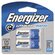Energizer® E2 Lithium Photo Battery, 123, 3V, 2/Pack