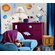 Room Mates 35-Piece Outer Space Peel and Stick Wall Sticker