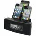 Dok Three Port Universal Charger with Speaker, Clock, Alarm and FM Radio