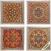 4 Piece Bukhara Wall Art Set