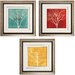 <strong>Propac Images</strong> Fallen Leaves 3 Piece Framed Graphic Art Set