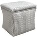 <strong>Skyline Furniture</strong> Cross Section Nail Button Storage Ottoman
