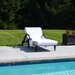 Linum Home Textiles Chaise Lounge Cover with 3 Side Accessory Pockets