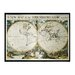 <strong>Sterling Industries</strong> Oxford Map of Terrqueous Globe Framed Graphic Art