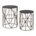 <strong>2 Piece Bradfield Drum Side Table Set</strong> by Sterling Industries