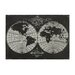 <strong>Map Laser Of World Globe Graphic Art on Canvas</strong> by Sterling Industries