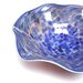 White Walls Hand Blown Decorative Dish in Blue and Red