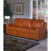 Omnia Furniture Chelsea Deco Leather Sleeper Loveseat