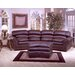 <strong>Omnia Furniture</strong> Williamsburg 4 Seat Conversation Leather Sofa Room Set