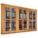 Triple Glass Door Multimedia Wall Mounted Cabinet