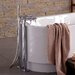 <strong>Juno Double Handle Floor Mount Tub Filler Faucet</strong> by Aquatica