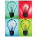 <strong>Pop Art Light Bulbs Sign Graphic Art</strong> by Design Toscano