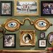 Folk Art Optometrist Trade Wall Sculpture