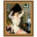 <strong>Design Toscano</strong> The Black Hat (Lady Trying on a Hat), 1904 by Frank W. Benson Framed Painting Print