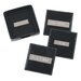 "2"" Engraved Plate Square Coasters in Black"