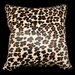 Safari Leopard Genuine Leather Pillow