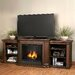 "Valmont 75.5"" TV Stand with Gel Fireplace"