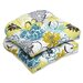 Floral Fantasy Wicker Seat Cushion