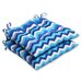 <strong>Panama Wave Wrought Iron Seat Cushion (Set of 2)</strong> by Pillow Perfect