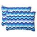 <strong>Pillow Perfect</strong> Panama Wave Throw Pillow (Set of 2)