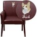 <strong>Personalized Leather Executive Reception Chair</strong> by Flash Furniture