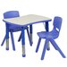 <strong>Adjustable Rectangular Activity Table with 2 School Stack Chairs</strong> by Flash Furniture