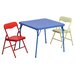 <strong>Kids 3 Piece Folding Square Table and Chair Set</strong> by Flash Furniture