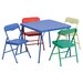 <strong>Kids 5 Piece Folding Square Table and Chair Set</strong> by Flash Furniture
