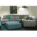 <strong>Chelsea Home</strong> Tiffany 3 Piece Sectional with Chaise Ottoman